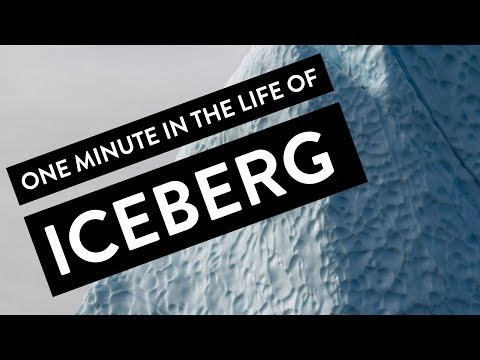 One minute in the life of iceberg