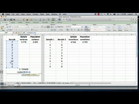 How to Compute Variance & Covariance in Excel : Advanced Microsoft Excel