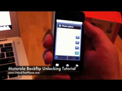 How to Unlock Motorola Backflip with Code + Full Instructions!! at&t rogers o2 orange bell vodafone