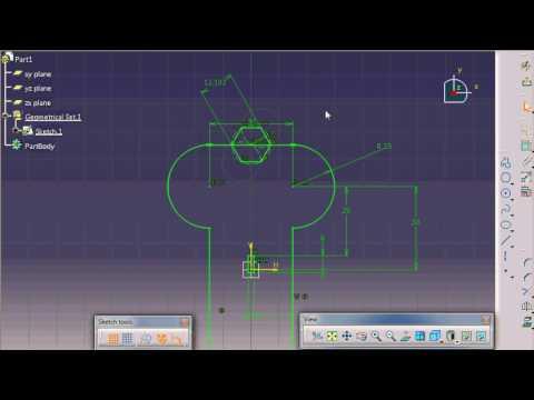 Catia V5 sketcher Trick and Tips #1   Trucos Catia V5 Sketch