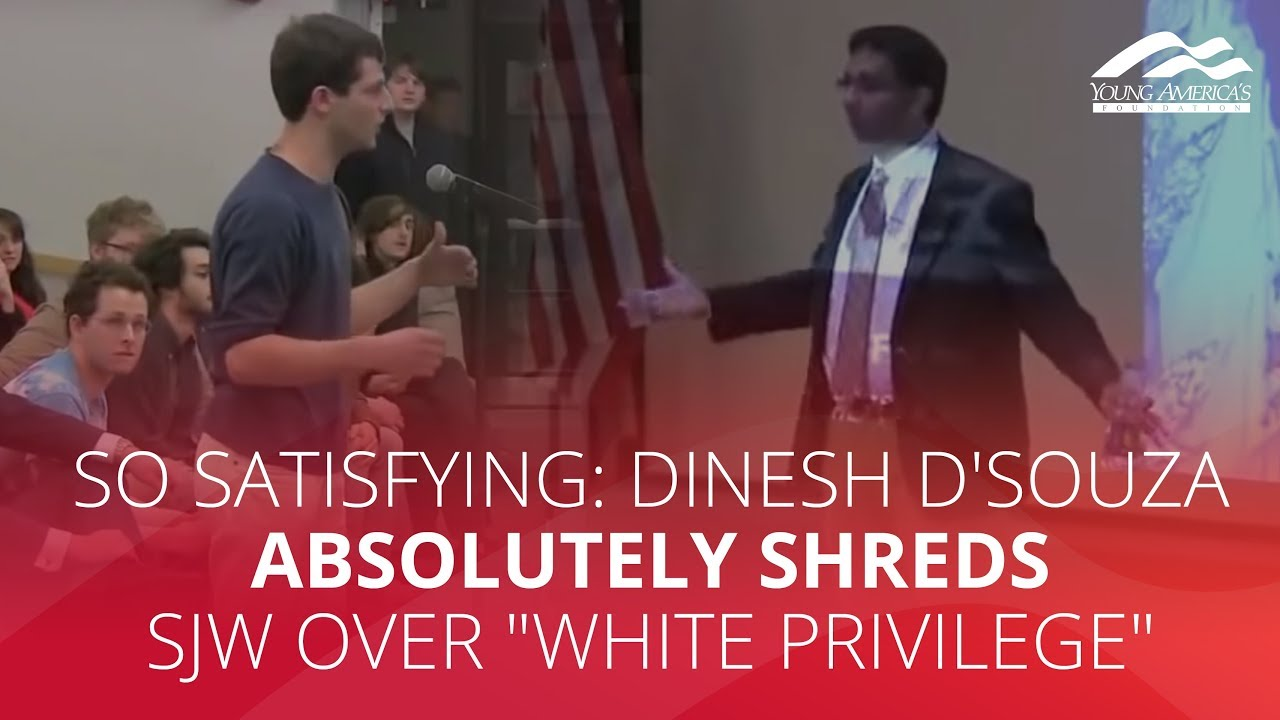 """SO SATISFYING: Dinesh D'Souza absolutely shreds SJW over """"white privilege"""""""