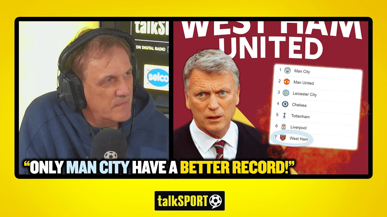 """""""ONLY MAN CITY HAVE A BETTER RECORD!"""" Tony Cascarino is full of praise for David Moyes and West Ham"""