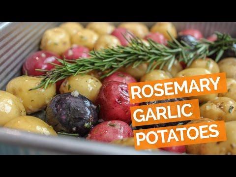 Roasted Baby Potatoes Recipe with Garlic, Rosemary