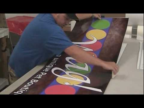 Custom Signs - (www.TheSignChef.com) How to Lay Vinyl on a Flat Panel Sign