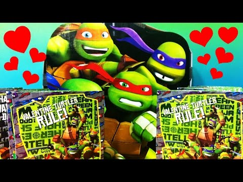 NICKELODEON Teenage Mutant Ninja Turtles VALENTINES Ninja Classmate Set Valentines Holiday