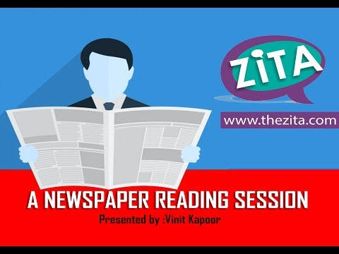 Live Newspaper Reading Session | Live Grammar Class| Live Spoken English Class| By Vinit Kapoor