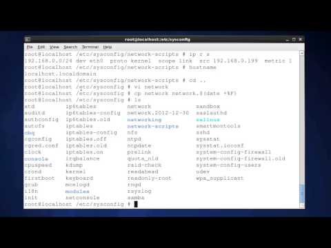 Learning CentOS Linux Lesson 3 Network configuration