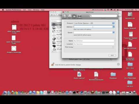 Installing an IP printer on a MacBook