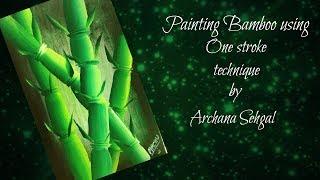 Malen Mit Acrylfarben Bambus Einfach Malen