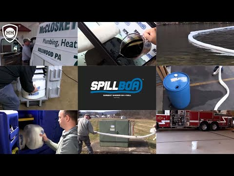 Patent Pending SpillBoa™ Sorbent Barrier on a roll! - Oil and Fluid Spill Cleanup 40x Faster!
