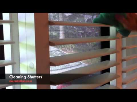 Creative Blinds & Awnings How to Clean Plantation Shutters with Microfibre cloth
