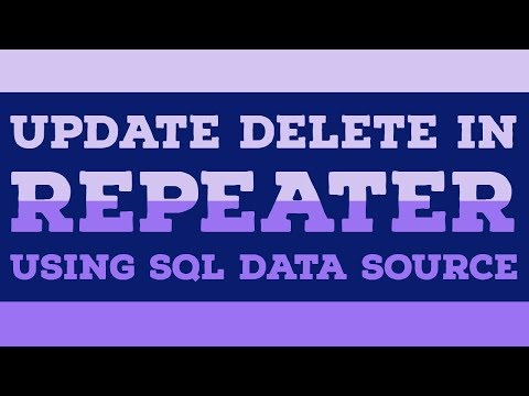 Edit Update delete with repeater in asp.net for MCA BCA Beginners
