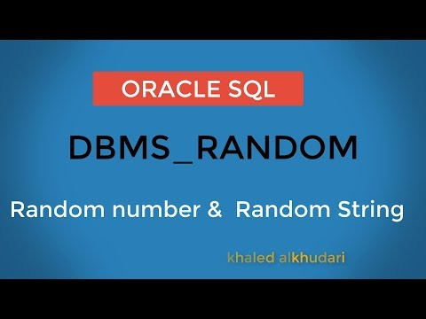 Random number &  Random String in Oracle/ عربي