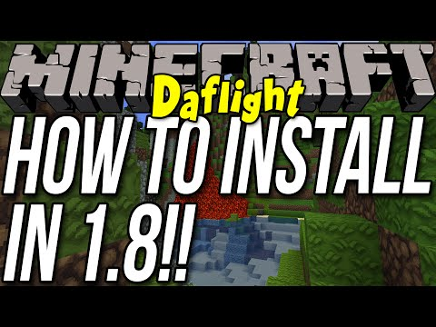 How To Install The Daflight Mod In Minecraft 1.8
