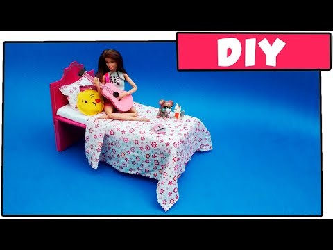 How to make a cardboard bed for dolls - without using hot glue