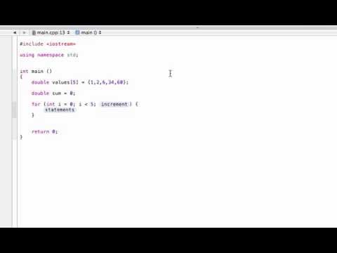 Find the sum or average of array values (C++ programming tutorial)