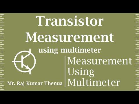 Transistor Measurement using Multimeter in Hindi