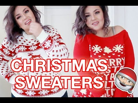 PLUS SIZE FASHION TRY ON HAUL | The Cutest/Ugliest Xmas Sweaters, Ever. BOOHOO PLUS | Sometimes Glam