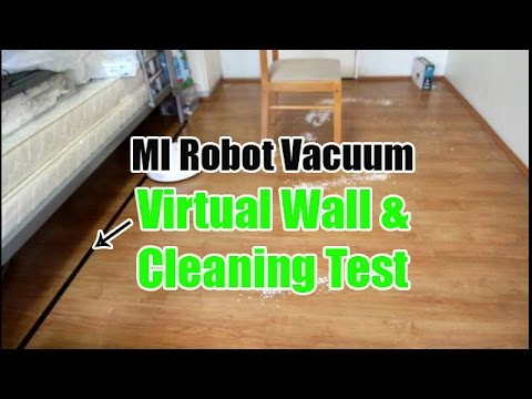 Xiaomi Robot Vacuum Virtual Wall and Cleaning Test (with a Chair)