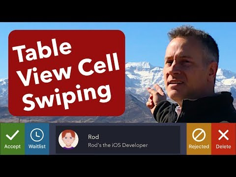 UITableView Row Swipe Actions (iOS, Xcode 9, Swift 4)