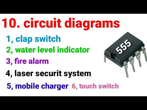 Circuit diagrams 555 ic clapswitch water level indicator fire alaram laser