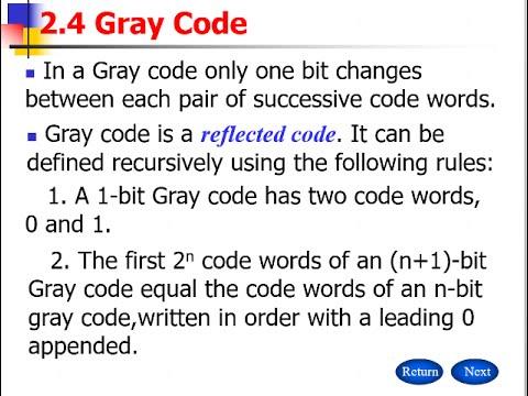 গ্রে কোড | Gray Code