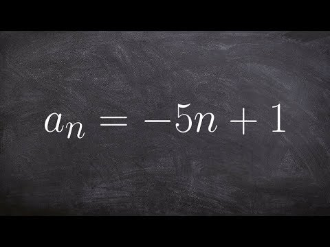 Math tutorial for determining the first five terms of a sequence