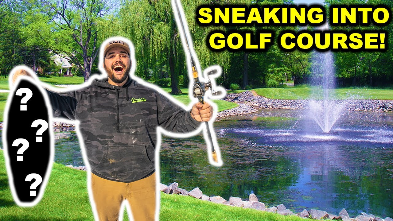 SNEAKING into GOLF COURSE POND in FLORIDA!!!