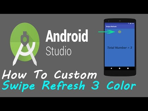 How To Make The Swipe Refresh Layout Color #2 | Android Studio |