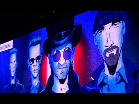 U2 - 2018 - Comic Intermission (HD) - From Boston 6-22-2018 (Section 21 Row 1 Seat 1)