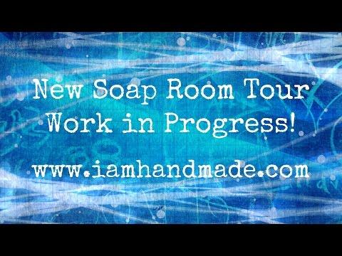 Making of a Soap Room www.iamhandmade.com