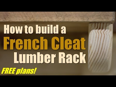Shop Work: How to build a French Cleat Lumber Rack