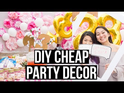 DIY Cheap and Easy Dollar Store Party Decorations | Eva Chung