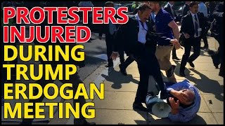 🔴 Protesters Get Beat Up Outside Turkish Ambassador Residence In Washington D.C.