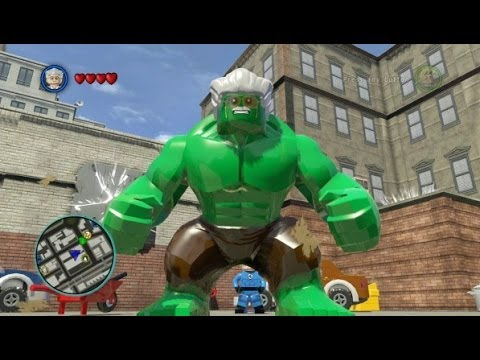 LEGO Marvel Super Heroes (PS4) - Stan Lee - Excelsior Hulk Free Roam Gameplay