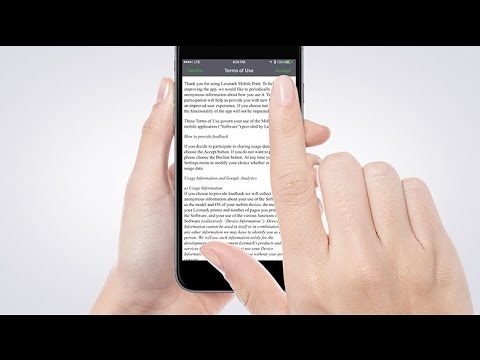 Lexmark Mobile Print—Installing the application for iOS