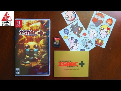 NEW SWITCH GAME!! The Binding of Isaac Afterbirth Plus Unboxing - Stickers, Manual, Cartridge