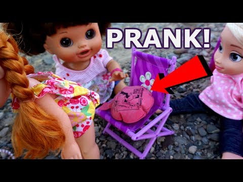 BABY ALIVE Whoopie Cushion Prank With Elsa And Anna -Baby Alive Videos