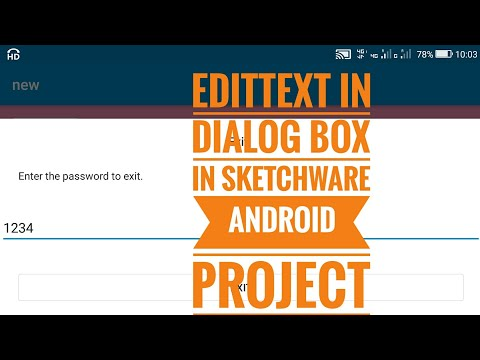 Edittext field in Dialog Box in Sketchware Android Project
