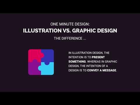 One Minute Design: Illustration vs. Graphic Design