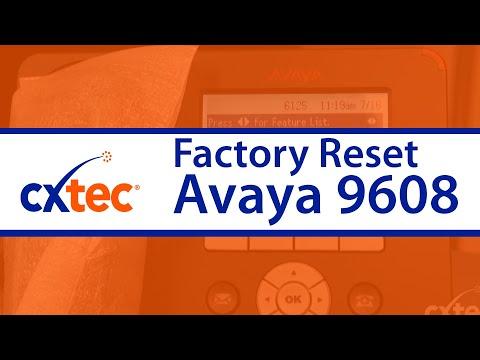 How to Factory Reset an Avaya 9608 IP Phone - CXtec tec Tips