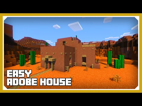 Minecraft: How To Build An Adobe House Tutorial (Easy Survival Minecraft House )