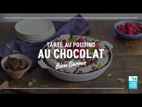 Tarte au pouding au chocolat   Calendrier du lait 2018