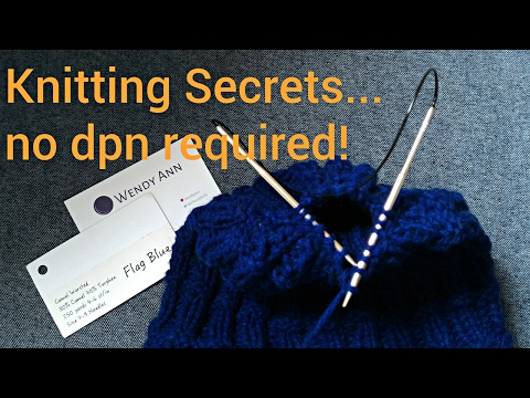 Knitting Tips - You Don't Have to Switch to Double Pointed Needles  - Decrease with Circulars Only!