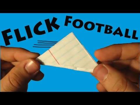 How to Make a Paper Flick Football - Origami