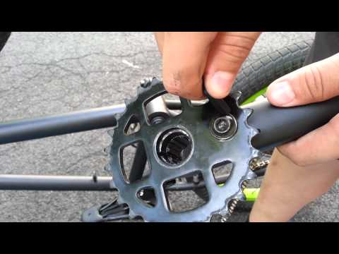 How to remove and install 3 piece bmx cranks