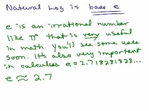 Logarithms 11 - Common and Natural Log
