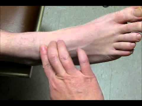 Sample Video - Palpate for Dorsalis Pedis Pulse