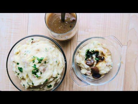 Mashed Potatoes + Mushroom Gravy • VEGAN THANKSGIVING Recipe