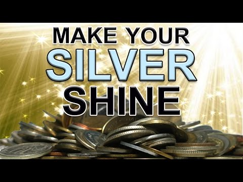 An EASY way to clean dirty and tarnished silver coins & jewelry!